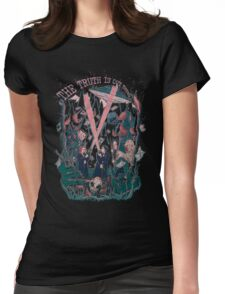 Out There Ode to The X Files Womens Fitted T-Shirt