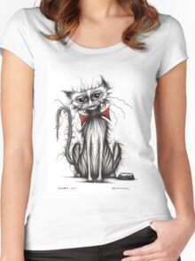 Shabby cat Women's Fitted Scoop T-Shirt