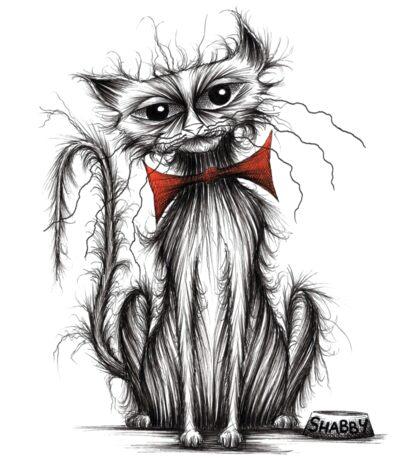 Shabby cat Sticker