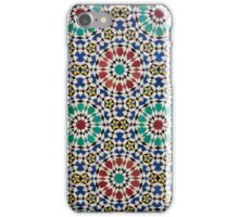 Tiling using Geometric patterns typical to Islamic designs at Royal Palace Gates, Fes, Morocco iPhone Case/Skin