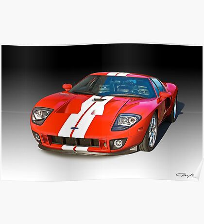 2011 Ford GT Production Poster