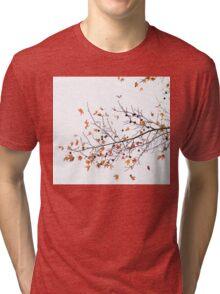 Orange Leaves and Gumballs Tri-blend T-Shirt
