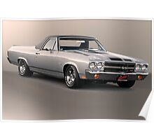 1971 Chevrolet El Camino SS 'Cowl Induction' Poster