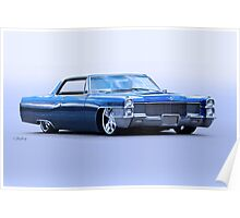 1965 Cadillac Custom Coupe DeVille Poster