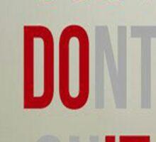 Just Do It! Sticker