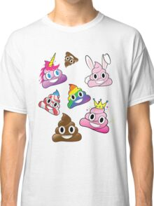 Silly Whacky Fun Poop Emoji Land Collection Classic T-Shirt