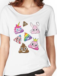 Silly Whacky Fun Poop Emoji Land Collection Women's Relaxed Fit T-Shirt