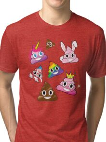 Silly Whacky Fun Poop Emoji Land Collection Tri-blend T-Shirt