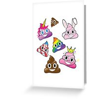 Silly Whacky Fun Poop Emoji Land Collection Greeting Card