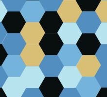 Contrasting Abstract Hexagon Pattern Sticker