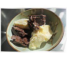 Home Made Dark Choc. Truffles and Vanilla Ice Cream Poster