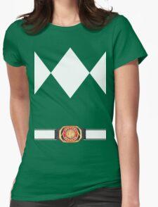 MMPR Green Ranger Uniform Womens Fitted T-Shirt