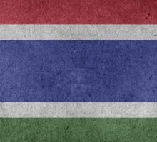 Gambia Flag Grunge Sticker