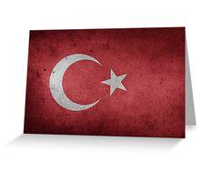 Turkey Flag Grunge Greeting Card