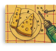 Cheese Drilling Canvas Print