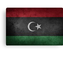 Libya Flag Grunge Canvas Print