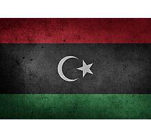 Libya Flag Grunge Photographic Print