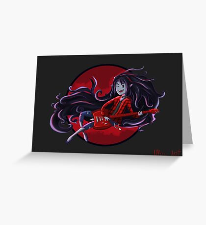 Marceline - Adventure Time Greeting Card