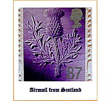Airmail from Bonnie Scotland Photographic Print