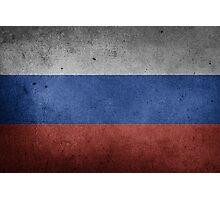 Russia Flag Grunge Photographic Print