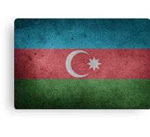 Azerbaijan Flag Grunge Canvas Print