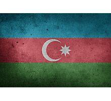 Azerbaijan Flag Grunge Photographic Print