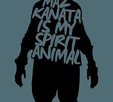 Maz is My Spirit Animal (Black Version) by pantsdesign