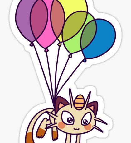 Balloon Meowth Sticker