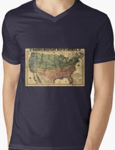 Bacon's Civil War Military Map of the United States (1862) Mens V-Neck T-Shirt