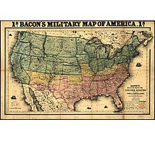 Bacon's Civil War Military Map of the United States (1862) Photographic Print