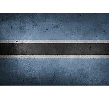 Botswana Flag Grunge Photographic Print