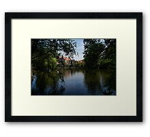A Glimpse Through the Trees - Bruges, Belgium Framed Print