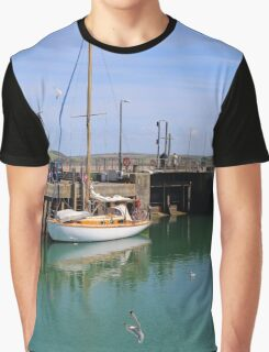 At Padstow Harbour, North Cornwall, SW England Graphic T-Shirt