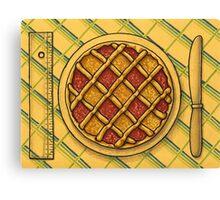 Precision square grid tart Canvas Print