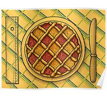 Precision square grid tart Poster