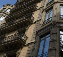 Barcelona's Marvelous Architecture - Passeig de Gracia Facade Sticker