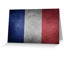 France Flag Grunge Greeting Card