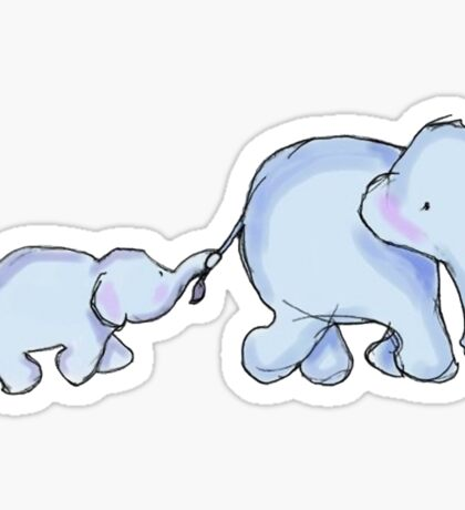 two elephants Sticker