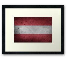 Austria Flag Grunge Framed Print