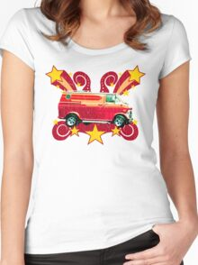 Retro 70s Van (vintage distressed) Women's Fitted Scoop T-Shirt