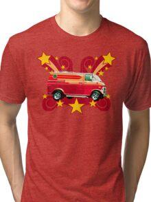 Retro 70s Van (vintage distressed) Tri-blend T-Shirt
