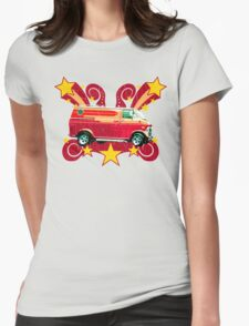 Retro 70s Van (vintage distressed) Womens Fitted T-Shirt