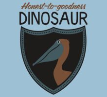 Honest-To-Goodness Dinosaur: Pelican (on light background) Baby Tee