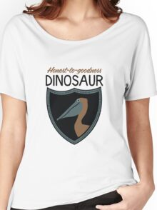 Honest-To-Goodness Dinosaur: Pelican (on light background) Women's Relaxed Fit T-Shirt