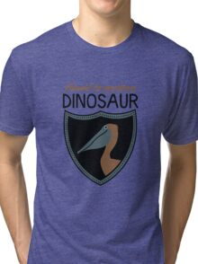 Honest-To-Goodness Dinosaur: Pelican (on light background) Tri-blend T-Shirt