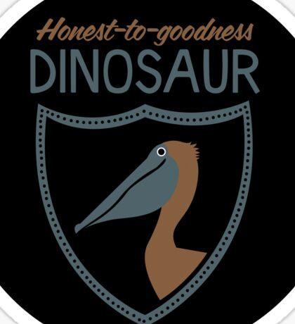 Honest-To-Goodness Dinosaur: Pelican (on light background) Sticker