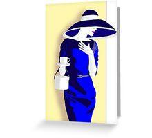 Blue tea dress Greeting Card