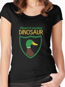 Honest-To-Goodness Dinosaur: Duck (on dark background) Women's Fitted Scoop T-Shirt