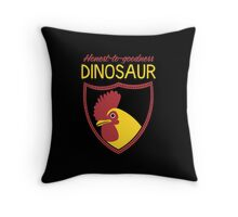 Honest-To-Goodness Dinosaur: Rooster (on dark background) Throw Pillow