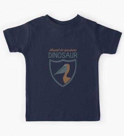 Honest-To-Goodness Dinosaur: Pelican (on dark background) Kids Tee